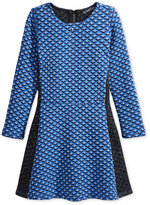 GUESS Glitter Diamond-Print Dress, Girls (7-16)