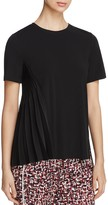 DKNY Asymmetric-Pleat Short Sleeve Top