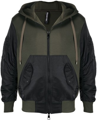 Neil Barrett Two-Tone Zipped Hoodie