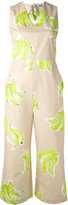 MSGM banana print jumpsuit - women - Cotton - 42