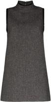 we11done Herringbone A-line mini dress
