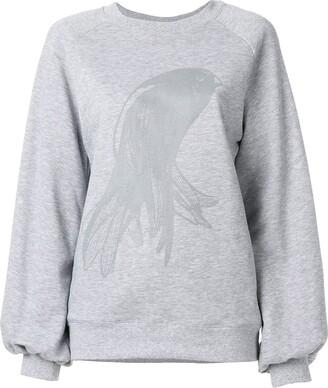 Ioana Ciolacu Oversized Printed Sweatshirt