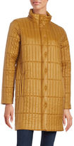 Eileen Fisher Petite Quilted Long Sleeve Coat