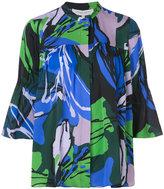 Carolina Herrera floral bell sleeved blouse - women - Silk/Spandex/Elastane - 2