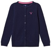 Gant Blue Textured Knit Cardigan