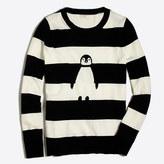 J.Crew Factory Striped intarsia penguin Teddie sweater