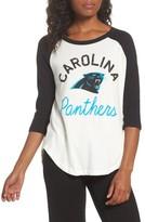 Junk Food Clothing Women's Nfl Carolina Panthers Raglan Tee