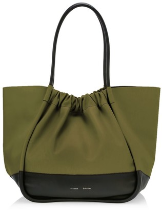 Proenza Schouler Extra-Large Ruched Colorblock Leather Tote
