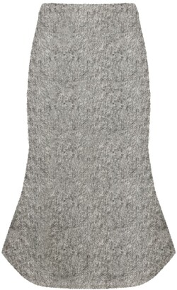 Christopher Kane Knitted Brushed Boucle Bell Skirt