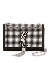 Saint Laurent Kate Monogram Small Tassel Chain Crossbody Bag with Crystals - Miroir Hardware