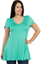 24/7 Comfort Apparel Kathy Tunic Top - Plus