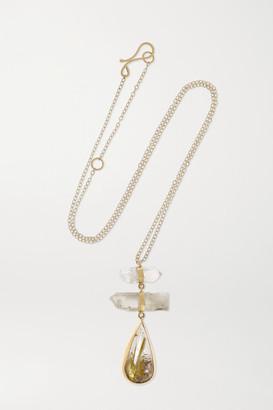 Melissa Joy Manning + Net Sustain 14-karat Gold, Tourmaline And Quartz Necklace - one size