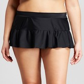 Surfside Women's Plus Size Solid Swim Skirts - VM