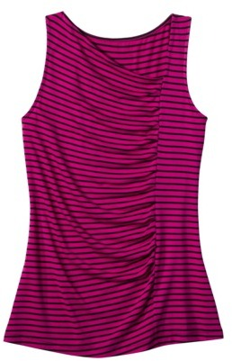 Merona Women's Asymmetrical Pleated Tank - Assorted Colors