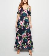 New Look Mela Tropical Cold Shoulder Maxi Dress