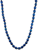Honora Style Indigo Cultured Freshwater Pearl Strand in Sterling Silver (7-8mm)