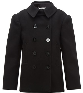 Maison Margiela Double-breasted Felted Wool Pea Coat - Black