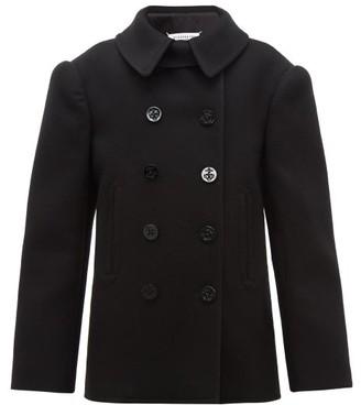 Maison Margiela Double-breasted Felted Wool Pea Coat - Womens - Black