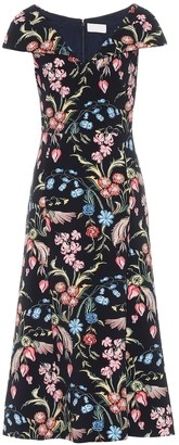 Peter Pilotto Floral cady midi dress