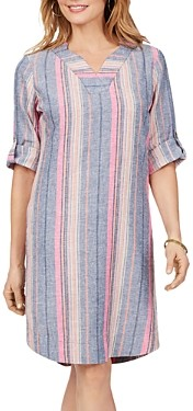 Foxcroft Harmony Beachcomber Dobby Stripe Dress