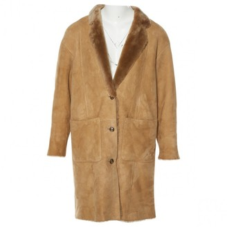 Closed Beige Leather Coats