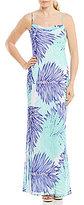 Calvin Klein Printed Chiffon Maxi Slip Dress