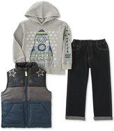 Kids Headquarters 3-Pc. Vest, Hoodie & Jeans Set, Baby Boys (0-24 months)