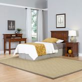 Home Styles Chesapeake 3-Piece Twin Headboard, Nightstand and Student Desk with Hutch Set