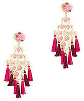 Mercedes Salazar Fiesta Earrings: Pink