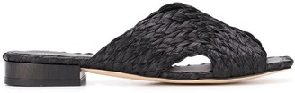 Paloma Barceló Open Toe Braided Sandals