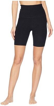 Beyond Yoga Spacedye High Waisted Biker Shorts (Darkest Night) Women's Shorts