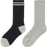 Uniqlo Women Heattech Socks 2p (Cable)
