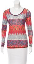 Vivienne Westwood Mesh Abstract Print Top