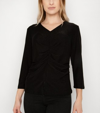 New Look Port Boutique Glitter Ruched Top