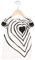 Junior Gaultier Girls' Heart Print T-Shirt w/ Tags