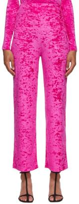Marine Serre Pink Velvet Yoga Pants