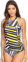 Figleaves Geo Vibe Underwired High Neck Swimsuit