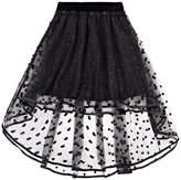Deux Par Deux Hi/low Tulle Skirt