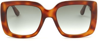 Gucci Gg0141s Havana Sunglasses