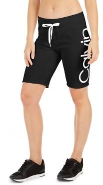 Calvin Klein Logo Terry Bermuda Shorts