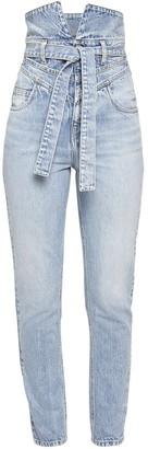 ATTICO High Waist Cotton Denim Skinny Jeans