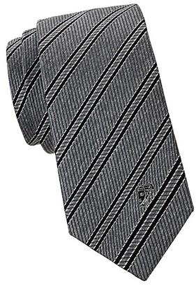 Versace Jacquard Stripe Silk Tie