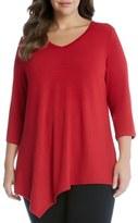 Karen Kane Plus Size Women's Asymmetrical Hem Top