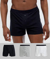 Asos Design ASOS DESIGN 3 pack jersey boxers in monochrome save