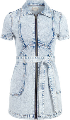 Alice + Olivia Gorgeous Zip Up Mini Dress