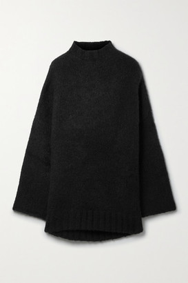 Petar Petrov Kady Oversized Cashmere And Silk-blend Sweater - Black