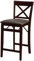 Asstd National Brand Triena X Back Folding Upholstered Bar Stool