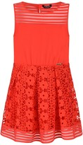 GUESS Marciano Red Embroidered Lace Dress