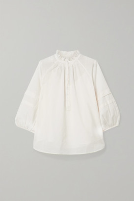Apiece Apart Laguna Organic Cotton Blouse - Cream