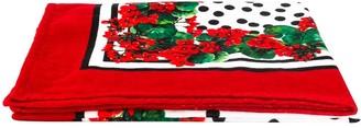Dolce & Gabbana Portofino print beach towel